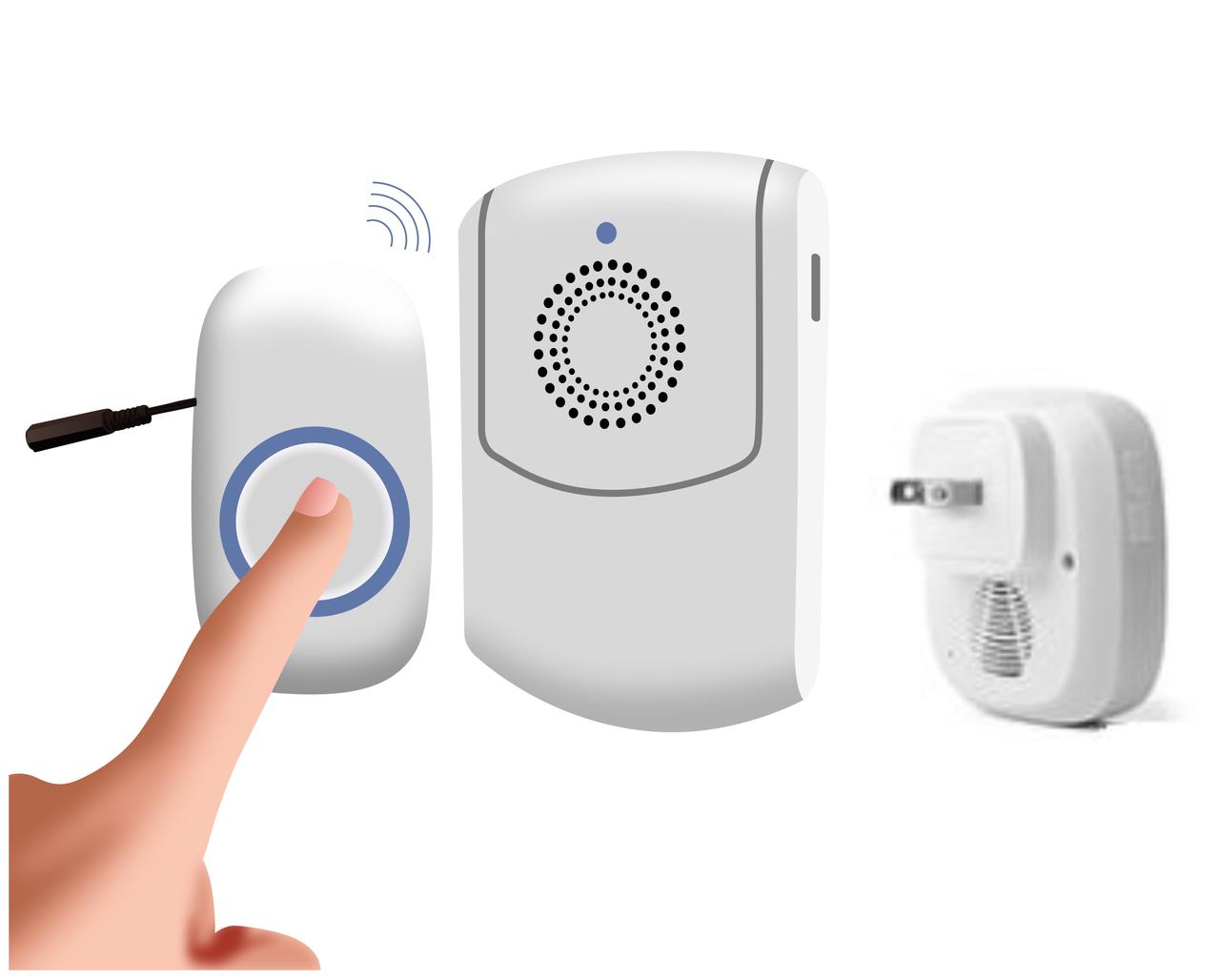 Wireless Attendant Call Button Vibrating Alert AC